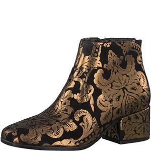 Tamaris-Schuhe-Stiefelette-BLACK/GOLD-Art.:1-1-25967-39/092