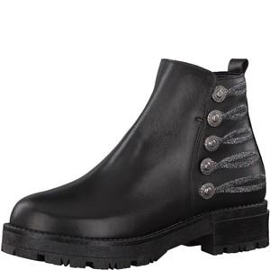 Tamaris-Schuhe-Stiefelette-BLACK/PEWTER-Art.:1-1-25796-39/061